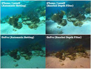 IPhone-LenZo-GoPro-auto-snorkel-filter