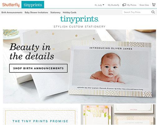 TinyPrints-Homepage
