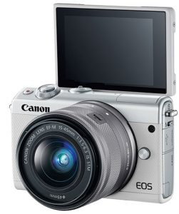 Canon-EOS-M100-white-LCD-Up