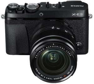 FujifilmX-E3_Black_Front_w-XF18-55mm