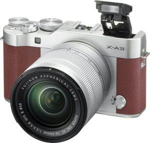 Fujifilm-X-A3-w-XC-16-50mm-lens-brown