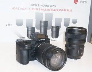 Panasonic-Lumix-S1R-and-lens-under-glass-