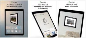 WhiteWall AR app Screens-iPad
