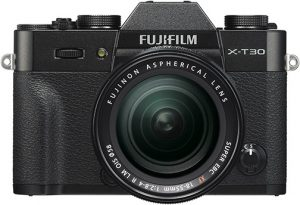 Fujifilm X-T30 Black_Front-XF18-55mm