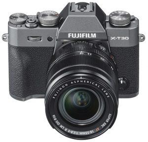Fujifilm X-T30 Charcoal_FrontXF18-55mm