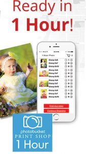 Photobucket 1 Hour Photo app on iPhone
