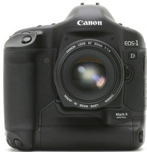 professional DSLR Canon-EOS-1D-mark-II-front