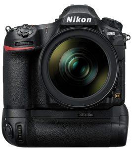 Nikon-D850-front-grip professional DSLRs