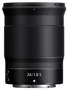 wide-angle primeZ lens Nikon-Nikkor-Z-24mm-f1.8-S_vert-side