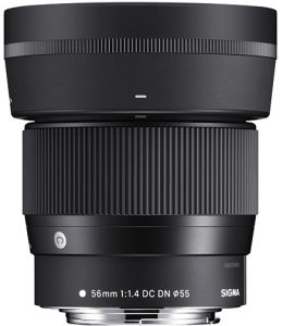 Sigma EF-M mount lenses Sigma-56mm-f1.4-DC-DN-Contemporary