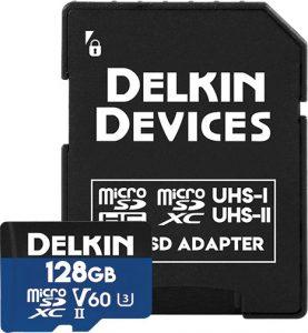 flash memory cards Delkin-Devices-128GB-Prime-UHS-II-microSDXC
