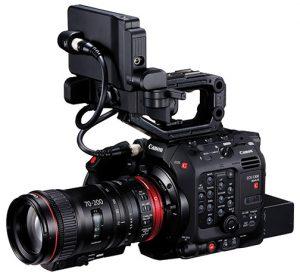 Canon-C300-Mark-III-w-Cine-Servo-70-200mm-LCD-top