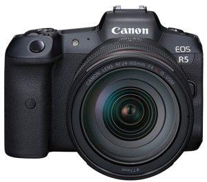 full-frame mirrorless cameras broad spectrum mirrorless cameras Canon-Canon-EOS-R5-front