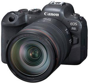 Canon-EOS-R6-left full frame mirrorless cameras