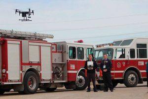 DJI drone rescue map DJI-Drone-Fire-Department