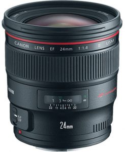 wide-angle prime lenses Canon-EF-24mm-f1.4L-II-USM