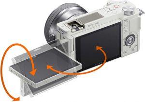 Sony-alpha-ZV-E10 ;white-flip-lcd